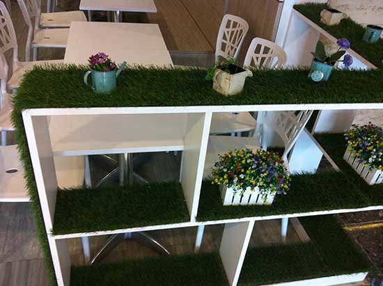 Synthetic Grass Shelving