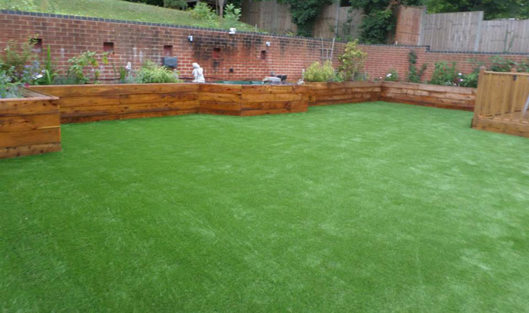 Purley artificial grass installed
