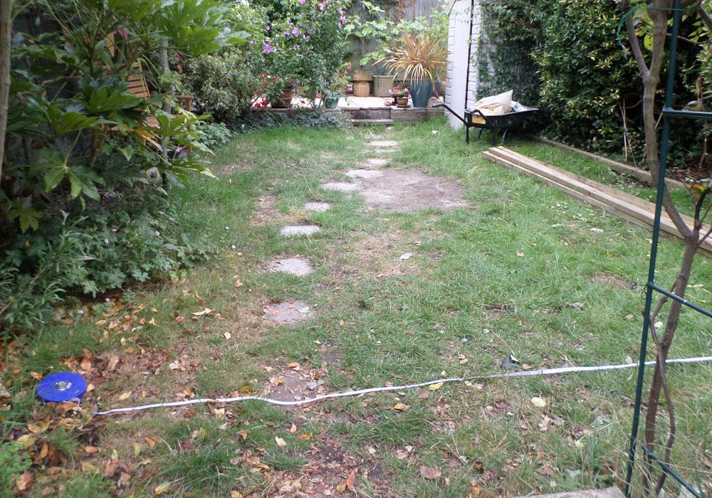 Back Garden Lawn Before