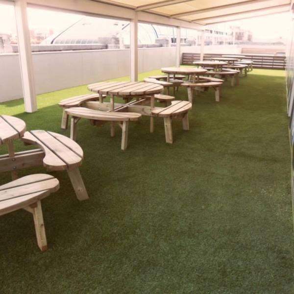 Selfridges artificial grass area