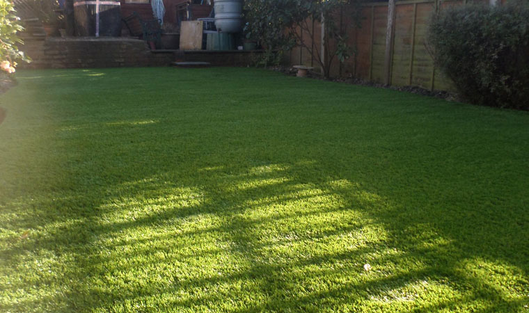 completed artificial grass lawn in West Wickham