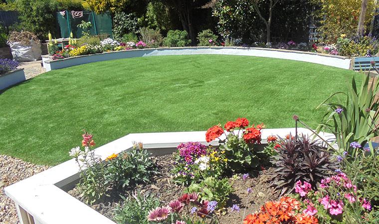 Mediterranean garden idea complete
