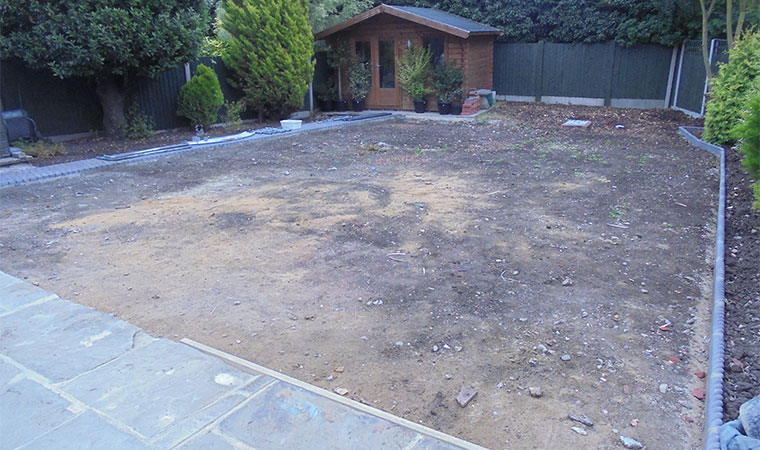Artificial Turf Lawn Before
