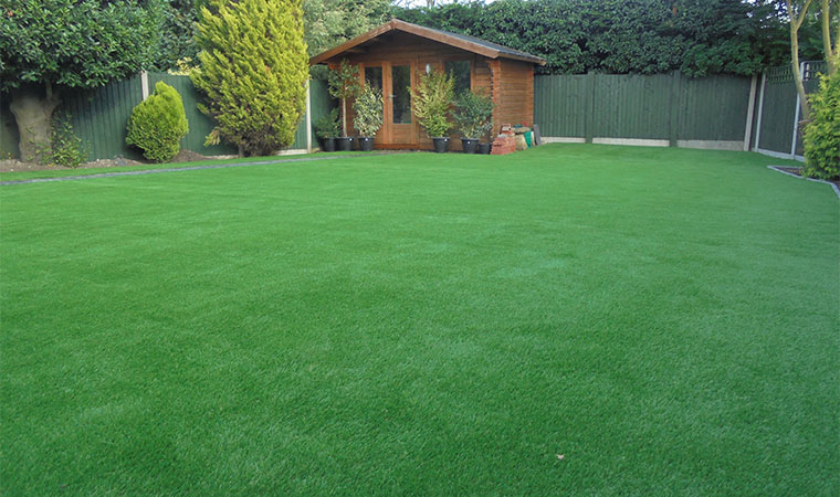 Artificial Turf Lawn Completed