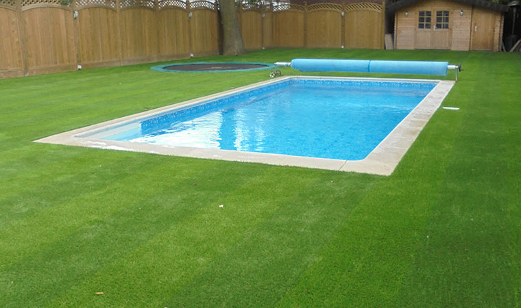 Swimming pool grass in sidcup perfect grass ltd for Swimming pool area