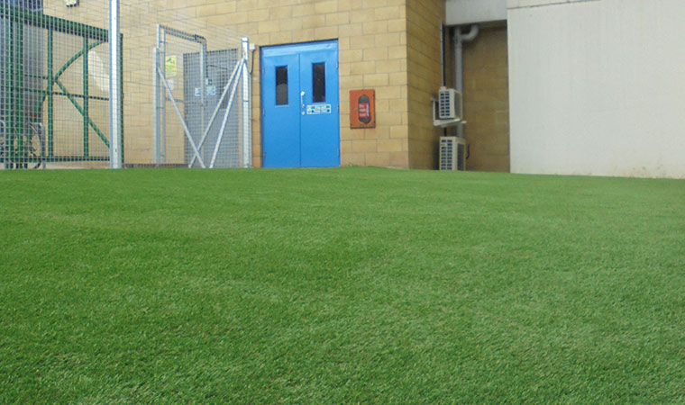 fake grass for schools