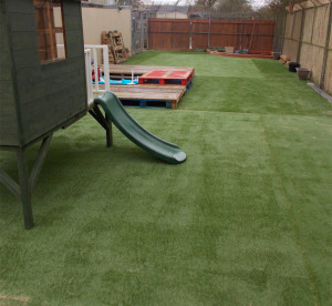 Dog run artificail turf installed at this Animal Rescue Centre