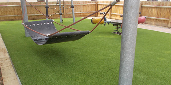 completed playground flooring