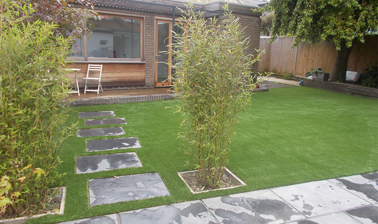 Installed artificial grass in lee