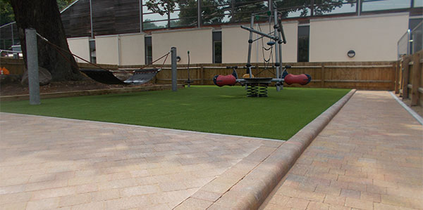 landscaping in playground completed