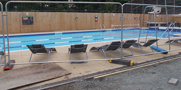 Swimming pool groundworks