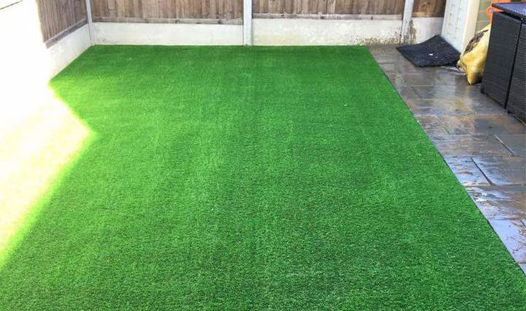 Artificial grass in brasted after