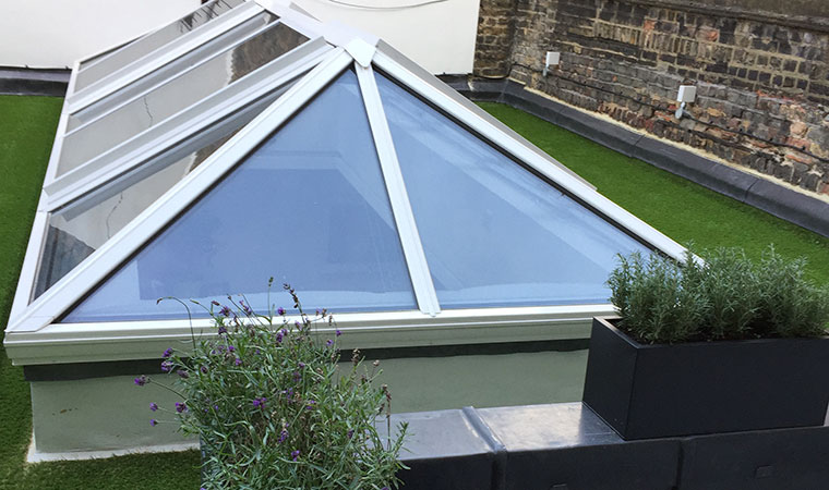 Completed roof garden terrace london