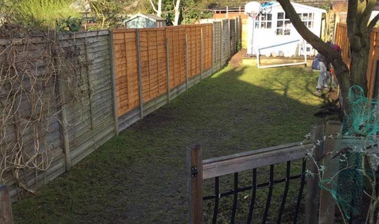 Long thin garden