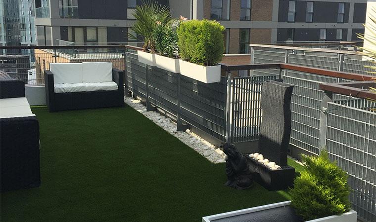 Beautiful urban rooftop garden