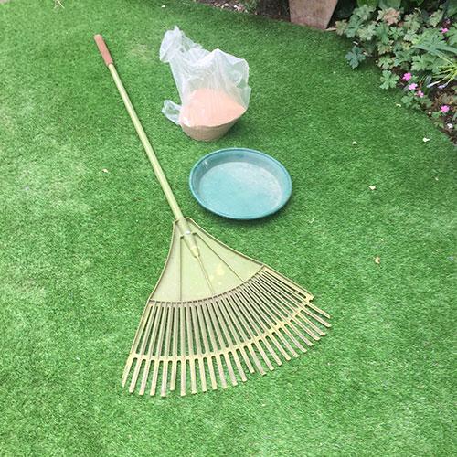Sand and rake