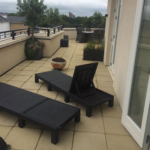 Sunny balcony area