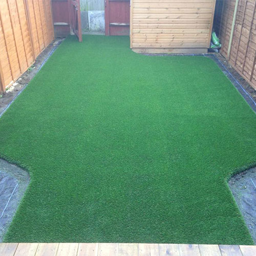 Completed artificial grass lawn Caterham