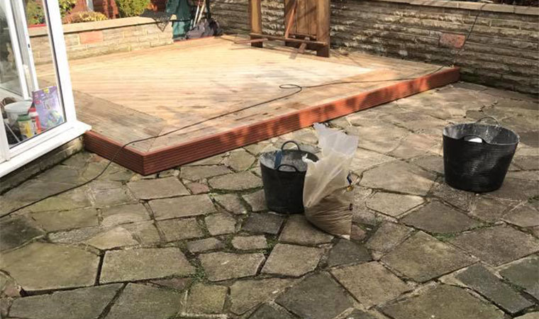 Replacing the crazy paving in Biggin Hill