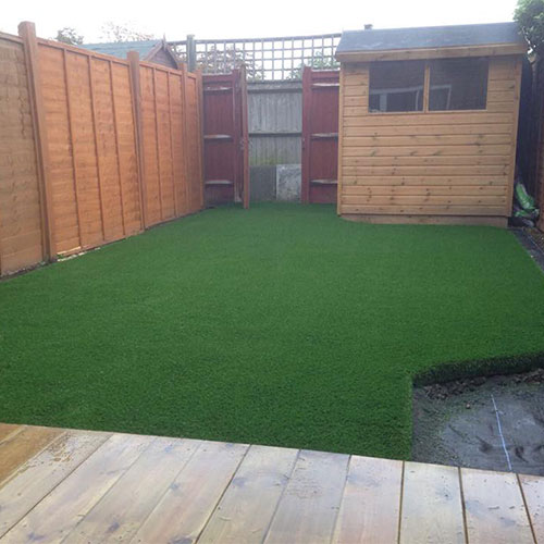 Shaped artificial lawn