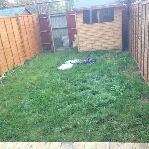 Standard back garden lawn caterham