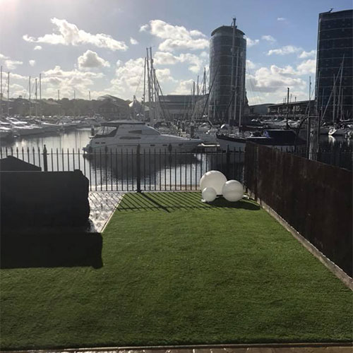 Great view chatham marina back garden