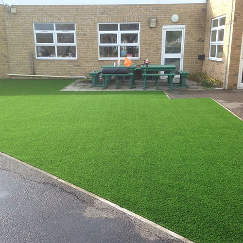 Junior school artificial grass fitted