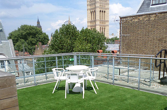 Roof garden balcony