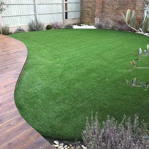 Beautiful artificial lawn new ash green