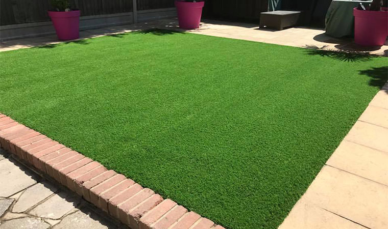 Artificial grass installed in thamesmead