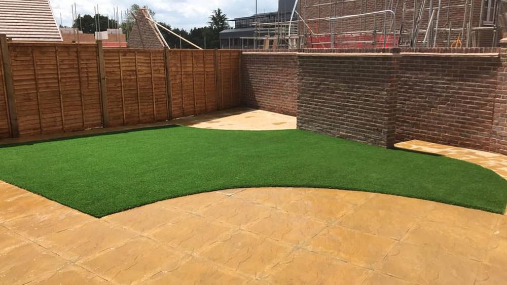 New build lawn completed