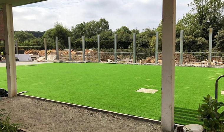 Artificial grass new hospital