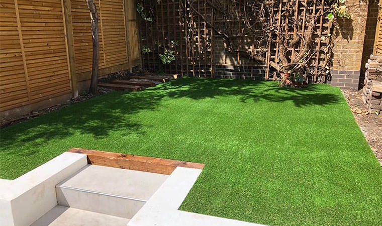 Small fitted artificial grass lawn Dulwich