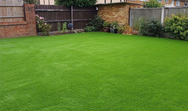 Basildon garden artificial grass fitted