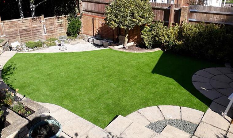 Chelsfield garden levelled