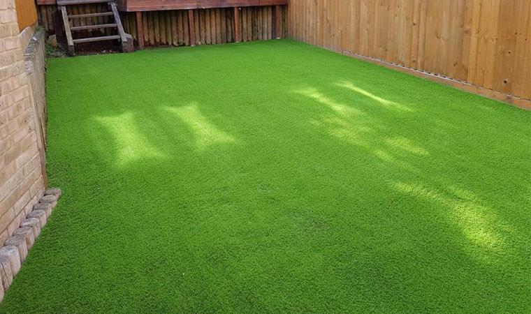 Rochester garden with artificial grass