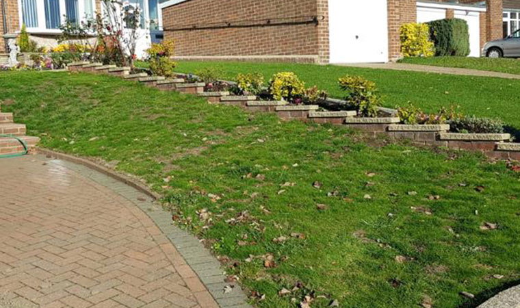 Difficult lawn to fit artificial grass