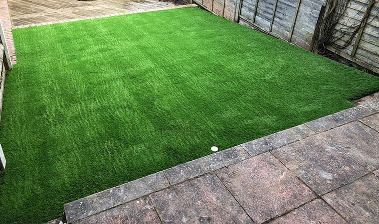 Big improvement to lawn