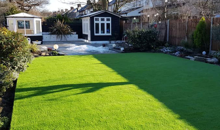 Lovely looking new garden lawn