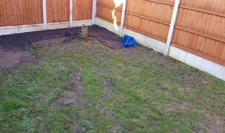 Muddy lawn south ockendon