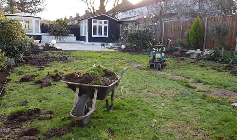 Removing top soil West Wickham