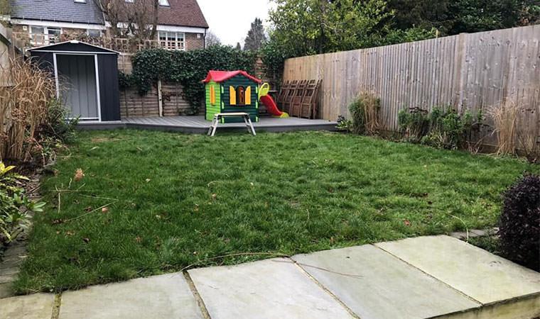 Scruffy lawn Caterham