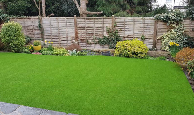 Beckenham garden fitted artificial grass