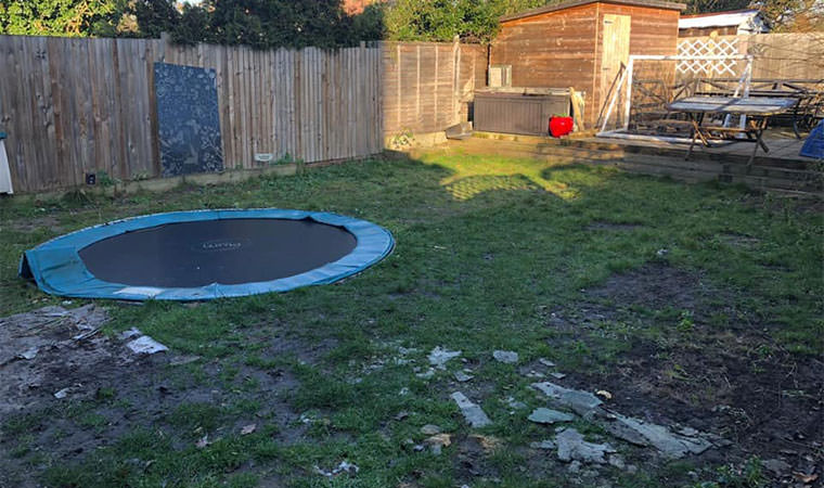 Existing lawn trampoline