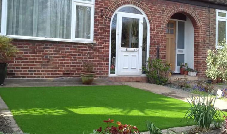 Artificial turf front garden lawn Sydenham