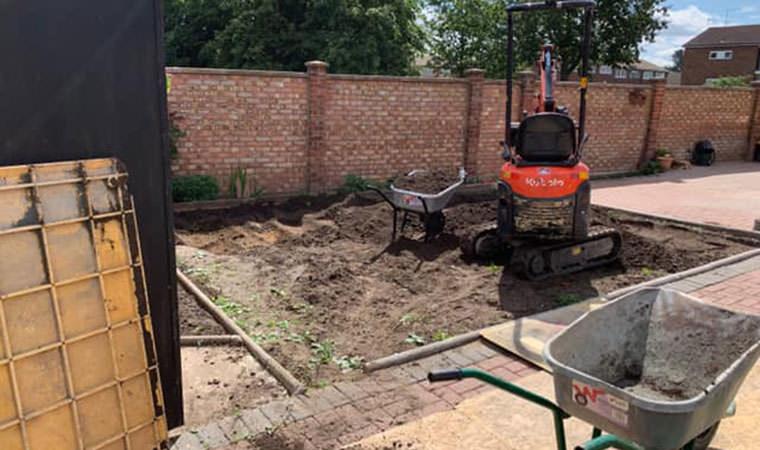 Belvedere garden groundworks