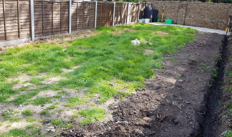 Existing lawn Keston