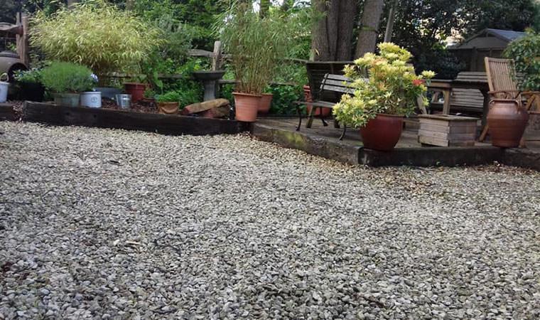 Existing stone in garden
