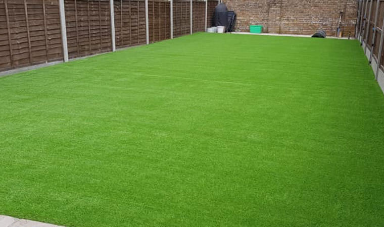 Finished artificial grass lawn Keston
