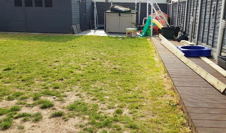 Worn out lawn London